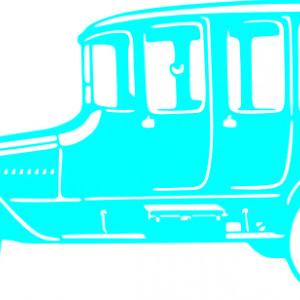 Sticker De Perete Old Car Silhouettes 1