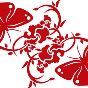 Sticker De Perete Ornament Fluturi