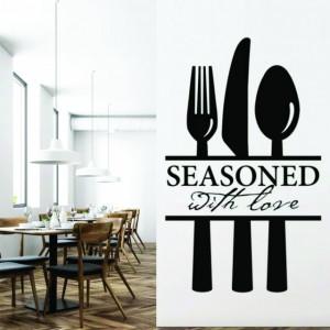 Sticker de perete Seasoned With Love