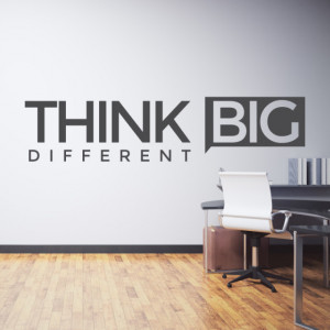 Sticker de Perete Think Big Different