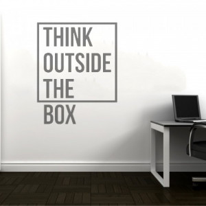 Sticker de Perete Think Outside the Box