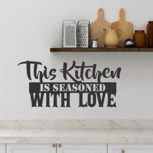 Sticker De Perete This Kitchen Is Seasoned With Love