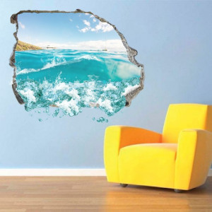 Sticker De Perete Valurile Oceanului 3d