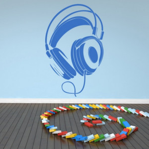 Sticker de Perete Wired Headphones
