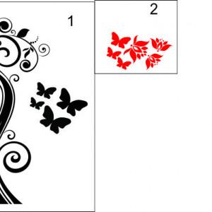Sticker frigider - floare 08