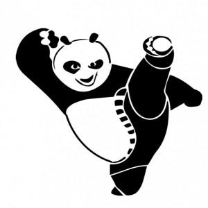 Sticker Pentru Laptop - Kung-fu Panda