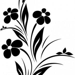 Sticket De Perete Floare De Interior