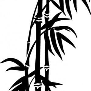 Stiker De Perete Bambus 01