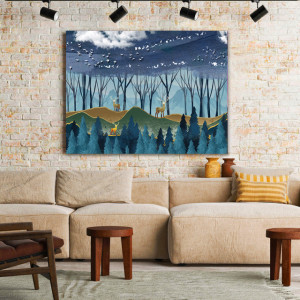 Tablou Canvas Deep Into The Blue Forest