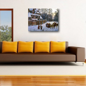 Tablou canvas efect painting - iarna 01