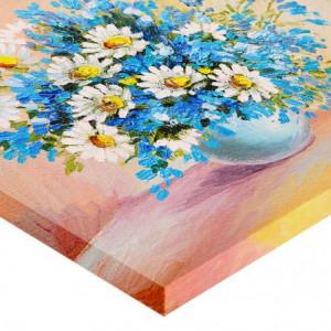 Tablou canvas efect pictura - Vaza cu margarete