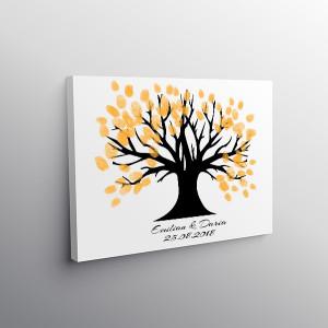 Tablou Canvas Finger Print Tree Blow