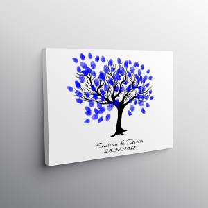 Tablou Canvas Finger Print Tree Wow