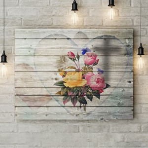 Tablou Canvas Flowers in my heart