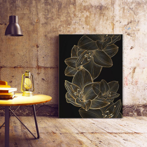 Tablou Canvas Golden lilies