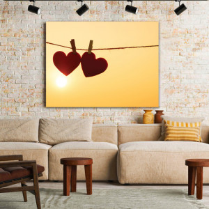 Tablou Canvas Hearts On A String
