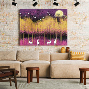 Tablou Canvas Purple night