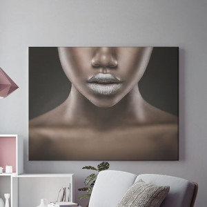 Tablou Canvas Silver lips