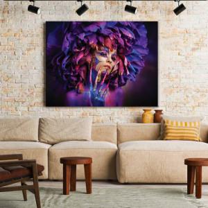 Tablou Canvas Wild Neon Dahlia