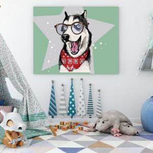 Tablou copii - Cool Huskey