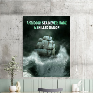 Tablou motivational - A smooth sea