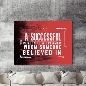 Tablou motivational - A successful person