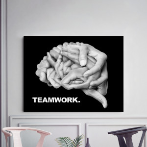 Tablou motivational - Teamwork (brain)