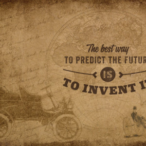 Tablou motivational - The best way to predict future