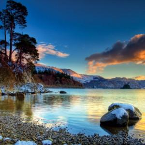 Tablou canvas - lac la munte