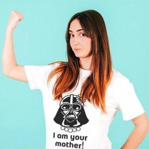 Imprimeu tricou mesaj I am your mother