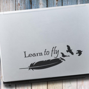 Sticker laptop - Learn to Fly