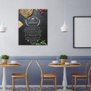 Tablou canvas - In Acest Restaurant - Pizza