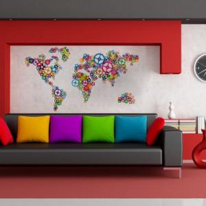 Harta Lumii din Rotite