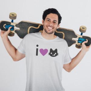 Imprimeu tricou I LOVE PUSSY