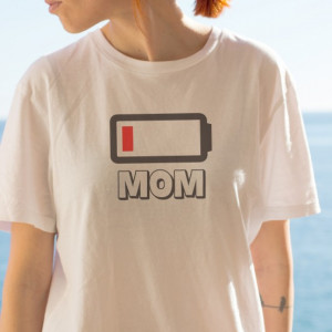 Imprimeu tricou MOM - LOW BATTERY