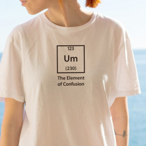 Imprimeu tricou THE ELEMENT OF CONFUSION