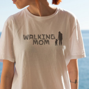 Imprimeu tricou WALKING MOTHER