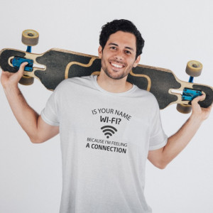 Imprimeu tricou YOUR NAME IS WI-FI