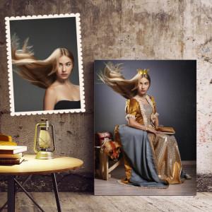 Portret personalizat cu poza ta - Golden queen