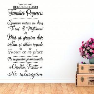 Regulile casei familiei
