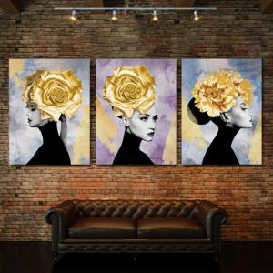 Set Tablouri Canvas - Hidden Golden Lady