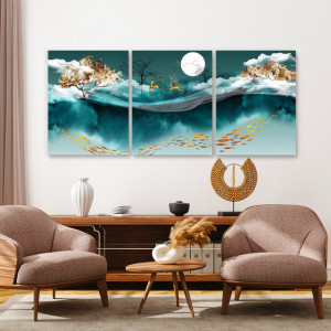 Set tablouri canvas - Magic Forest and River