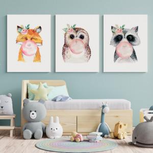Set Tablouri Copii - Animalute cu baloane