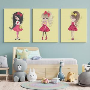 Set Tablouri Copii - Barbie girls