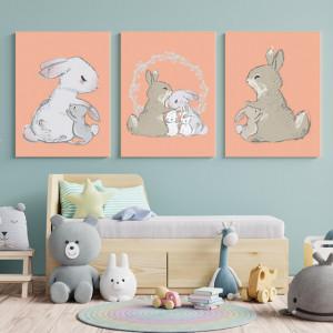 Set Tablouri Copii - Bunny family