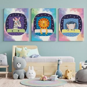 Set Tablouri Copii - Sleeping friends