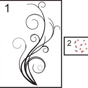 Sticker De Perete Abstract Floral