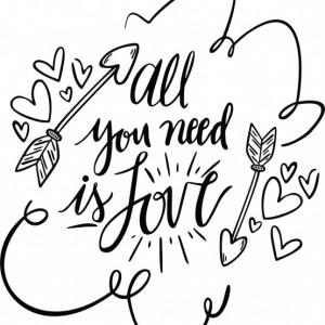 Sticker De Perete All You Need Is Love