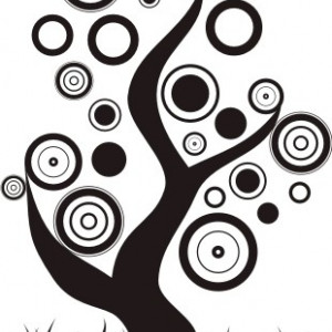 Sticker De Perete Arbore Abstract