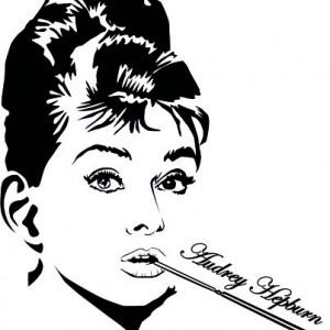 Sticker De Perete Audrey Hepburn